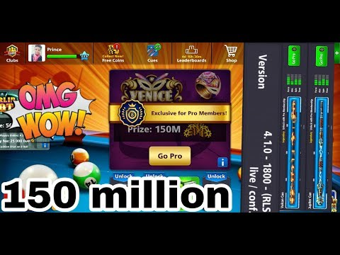 8 ball pool new version new table 150 million coins  omg