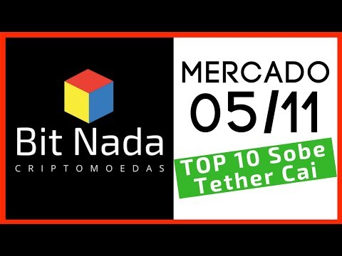 Mercado de Cripto! 05/11 Top 10 sobem. Tether cai. EOS não é blockchain??