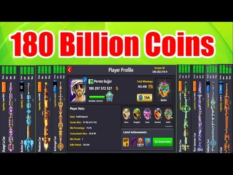 ?OMG 180 Billions coins ?All Cues shope Done ?world Best Account✔