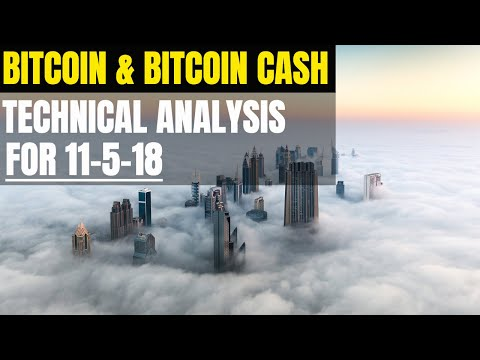 Bitcoin $BTC and Bitcoin Cash $BCH Technical Analysis for 11-5-18