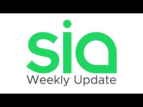 Sia Weekly Update – Week of October 28