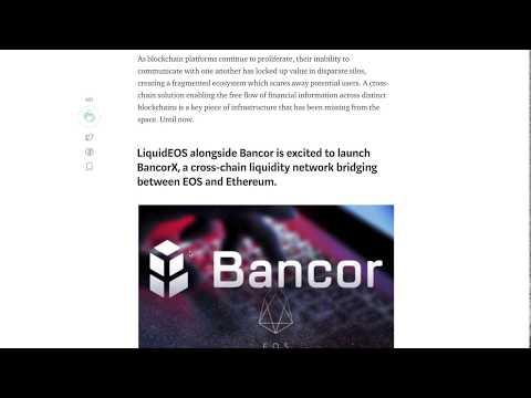EOS ecosystem update – Airdrop economics, BancorX, WAX, Voting decay