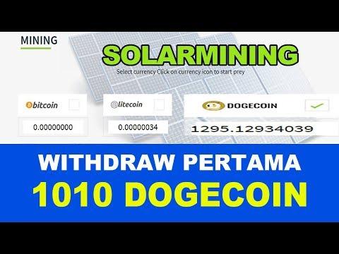 SOLARMINING – Withdraw Pertama 1010 DOGECOIN (LEGIT or SCAM)