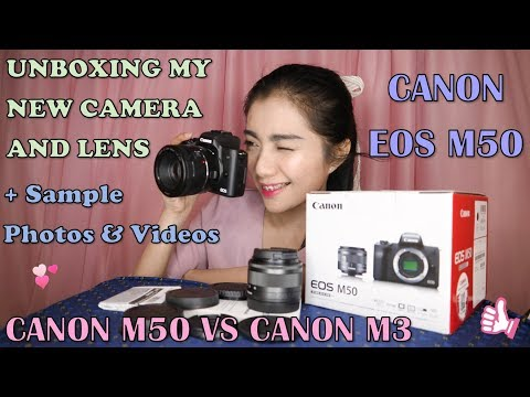 Canon EOS M50 Unboxing + EF 50mm f/1.8 STM Lens Review