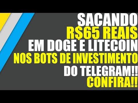 Sacando R$65 Reais em DOGE e LITECOIN nos BOTS de Investimento do TELEGRAM!! Confira