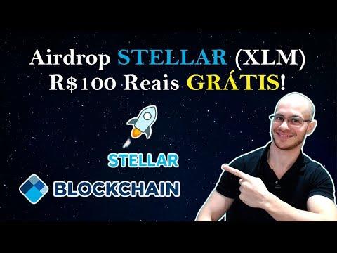 Airdrop Blockchain.com dará 100 Criptomoedas Stellar Lumens (XLM) Grátis! AirdropBR.com – 2018