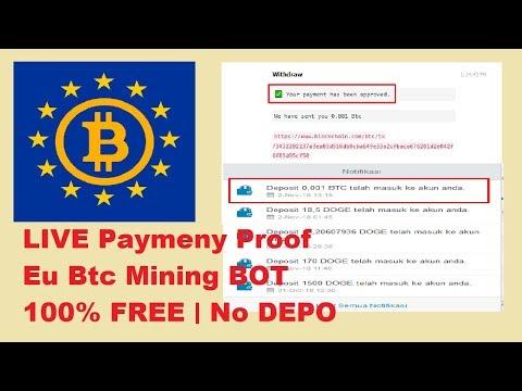 LIVE Payment Proof | Eu Btc Mining BOT | FREE MINING bot | No DEPO