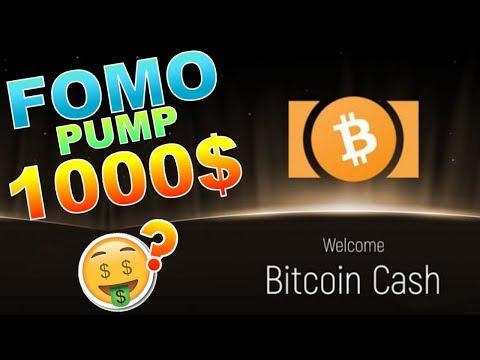 BITCOIN CASH 1000$ HARD FORK FOMO !!!??? BCH analyse technique crypto monnaie