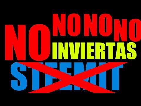 NO INVIERTAS EN STEEMIT NO PIERDAS  TIEMPO Y DINERO