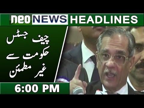 Neo News Headlines | 6:00 PM | 13 November 2018