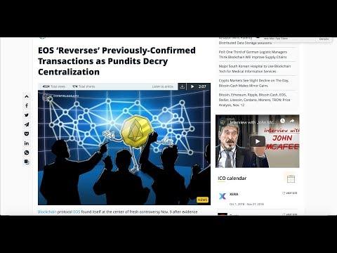 EOS Reverse Transaction |  Bitcoin Cash Hard Fork | EOS Airdrops