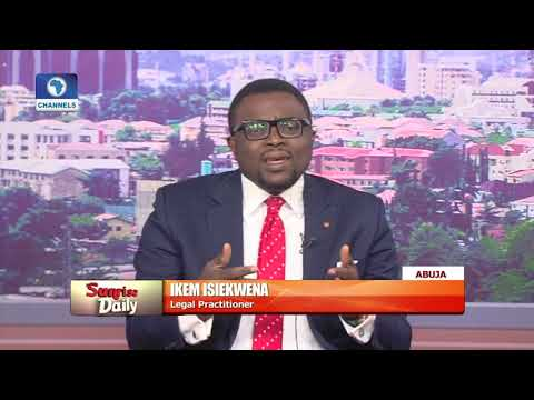 IDP Fund Dispute: There's No Iota Of Truth In Reps Report – Ikem Isiekwena Pt.1 |Sunrise Daily|