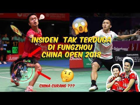 3 MOMEN INSIDEN TAK TERDUGA DI FUZHOU CHINA OPEN 2018 !!! | ADA INSIDEN KECURANGAN ??