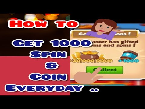 😉 OMG 😋 Coin master  Daily get 1000+ Spin and Coin How ????