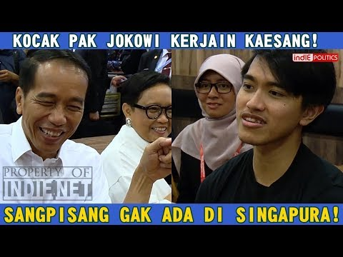 KOCAK..!!  Presiden Jokowi Sindir Kaesang Tentang SangPisang Gak Ada Di Singapura