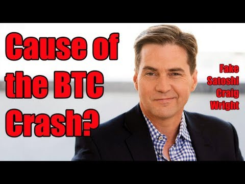 Did Fake Satoshi Craig Wright Cause the Bitcoin Crash?