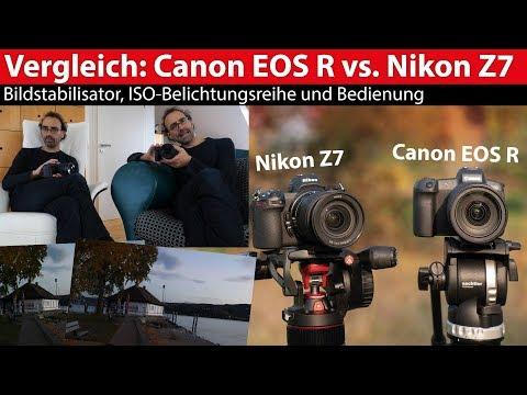 Test: Canon EOS R versus Nikon Z7 – ISO-Belichtungsreihe, Bildstabilisator, Bedienung