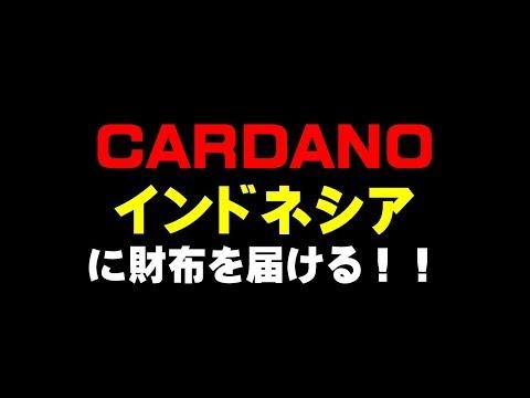 必見 CARDANO インドネシア にブロックチェーン技術財布を届ける!!仮想通貨(ADA)で億り人を目指す!近未来戦士ヒロミの暗号通貨ライフ