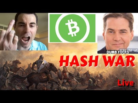 Bitcoin Cash Live Hash War & Trading/buying the dip on BTC