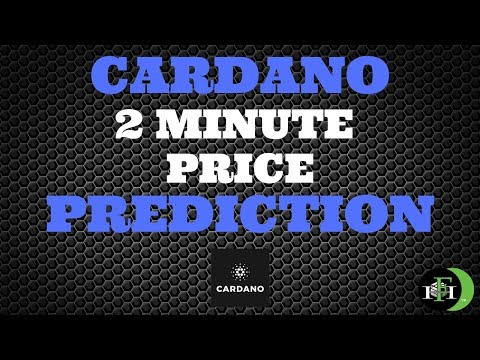 CARDANO ADA 2-MINUTE PRICE PREDICTION