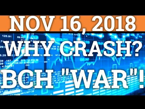 "3 REASONS FOR THE CRYPTOCURRENCY MARKET CRASH! BITCOIN CASH BCH FORK ""WAR""! (BTC PRICE + NEWS 2018)"