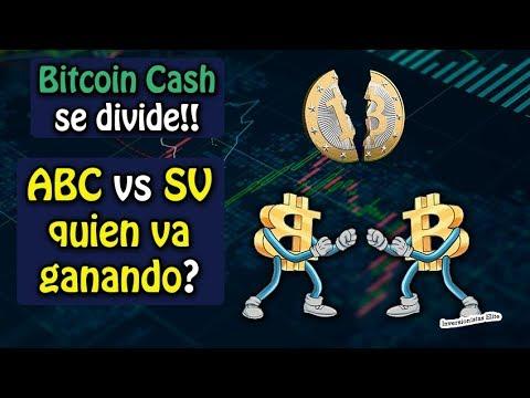 bitcoin cash se divide, ABC vs SV quien va ganando? noticias y mas