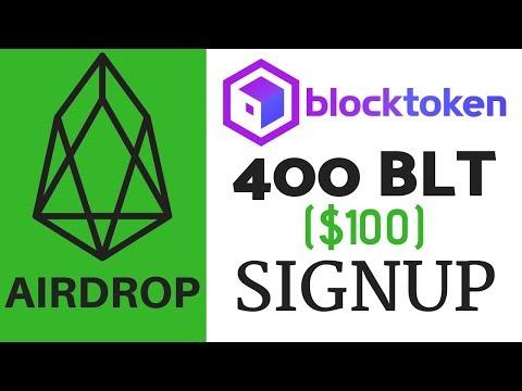EOS Airdrop: 400 BLT ($100) Signup – Blocktoken