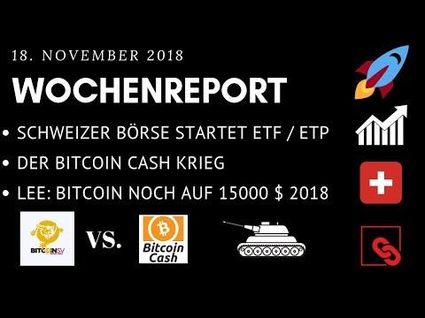 Schweiz: BITCOIN ETF noch dieses Jahr !!! BITCOIN CASH vs SATOSHI VISION KRIEG – LEE: BTC 15k