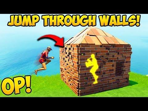 *NEW OP TRICK* JUMP THROUGH WALLS! – Fortnite Funny Fails and WTF Moments! #386