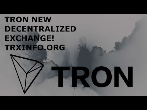 TRON TRX NEW DEX UP & RUNNING! TRADE UR GUILDCHAT COINS!!