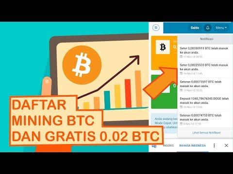 MINING BITCOIN GRATIS TERBARU. WD 0.02 BTC SETIAP HARI