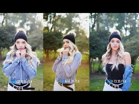 Canon EOS R vs Sony A7iii vs Fujifilm X-T3 (Portraits) w/ @bulababy