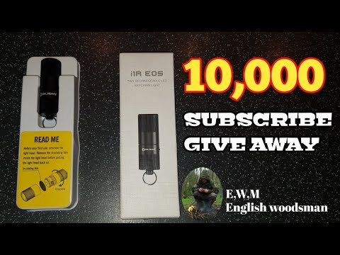 SUBSCRIBER GIVE AWAY  2 I1R EOS Tiny rechargeable LED keychain light.