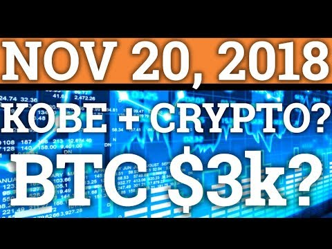 BITCOIN TO $3k? BTC TECHNICAL ANALYSIS! KOBE BRYANT IN CRYPTOCURRENCY! (PRICE + NEWS 2018 + TRADING)