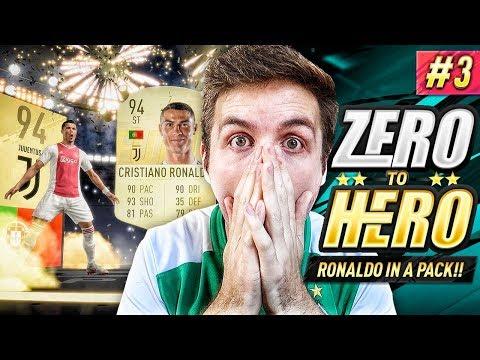 OMG I PACKED CRISTIANO RONALDO!!! FIFA 19 ZERO TO HERO