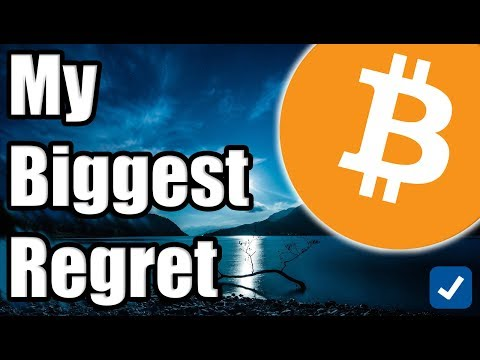 My Biggest Regret in Cryptocurrency. [Bitcoin Perspective]