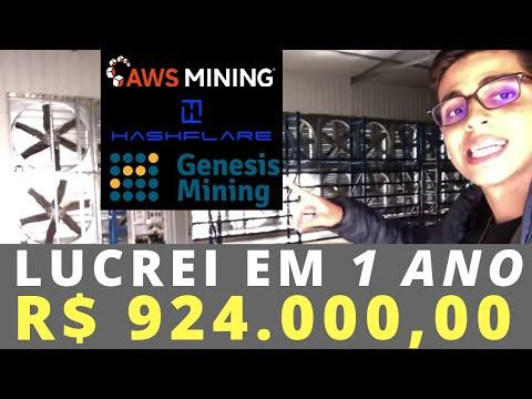 R$924 MIL com Bitcoin em 12 meses (Genesis, AWS Mining, HashFlare)