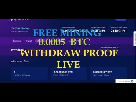 LIVE WITHDRAW PROOF 0.0005 BITCOIN BITZEEL FREE BITCOIN MINING
