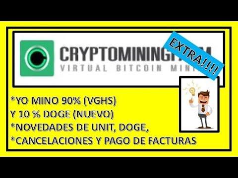 """""""CRYPTOMININGFARM""""  NOTICIAS RECIENTES DE UNIT Y DOGE  CANCELACIONES Y PAGO DE FACTURAS"""