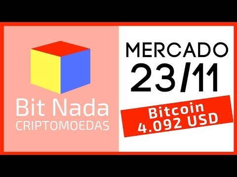 Mercado de Cripto! 23/11 Mais uma QUEDA! 4.092 USD / XRP / EOS / Tether ~ Bitfinex