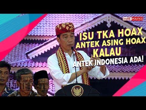 JOKOWI : ANTEK ASING GAK ADA YANG ADA ANTEK INDONESIA SAAT  PIDATO DI BANDAR LAMPUNG