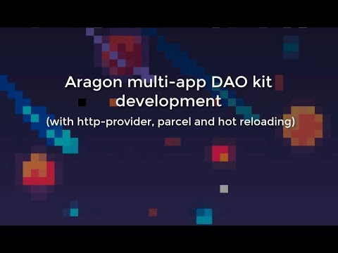 Aragon multi-app DAO kit development with http-provider
