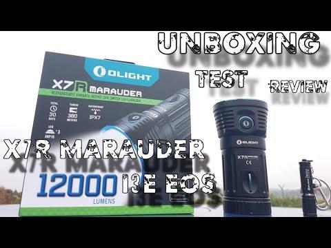 Olight X7R Marauder – I3E EOS Unboxing   Test   Review   HD+   Deutsch
