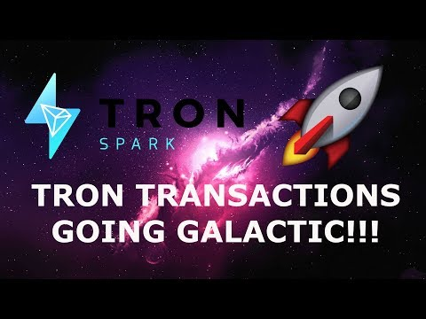 TRON TRANSACTIONS GOING GALACTIC!!! ETH KILLER!!