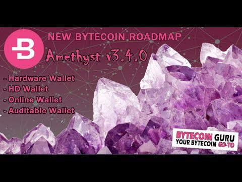 Bytecoin New Roadmap (HardwareWallet, HD Wallets, Online Wallet, Auditable Wallets & MORE) (1/4)