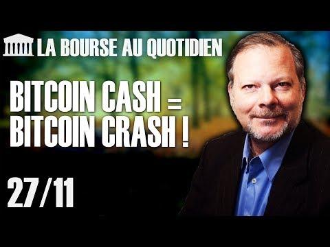 Bourse au Quotidien – Bitcoin cash = Bitcoin crash !
