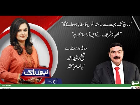 Sheikh Rashid's Exclusive Interview | News Talk | Full Program | 27 November 2018 | Neo News