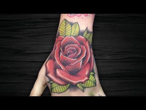 ROSA | Rose – Neo Trad – Tatua e Fala | Tattoo Time Lapse #139