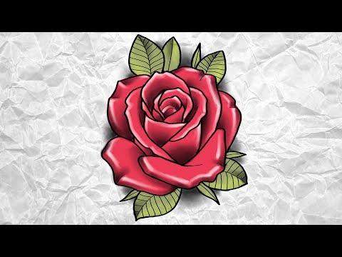 ROSA | Rose – Neo Trad – Desenha e Fala | Speed Drawing #113