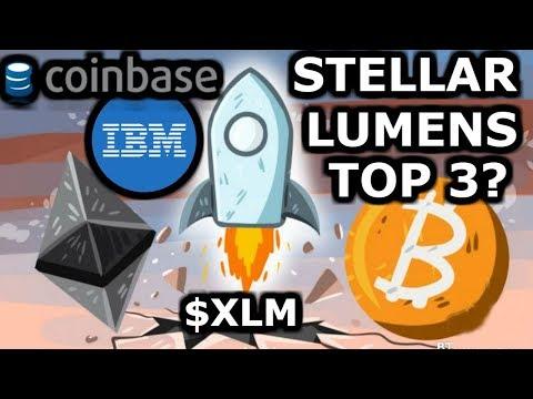 Stellar Lumens | Top 3 Coin Soon | Coinbase ?$XLM | Stellar vs. XRP (Ripple)=Stellar ?
